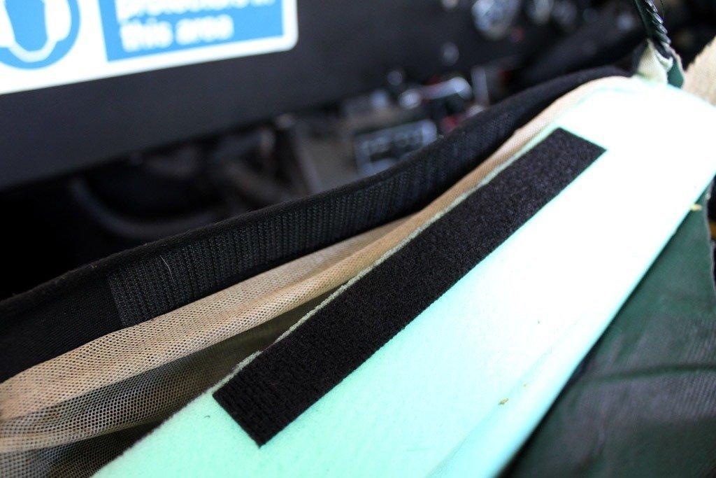 Velcro on edge