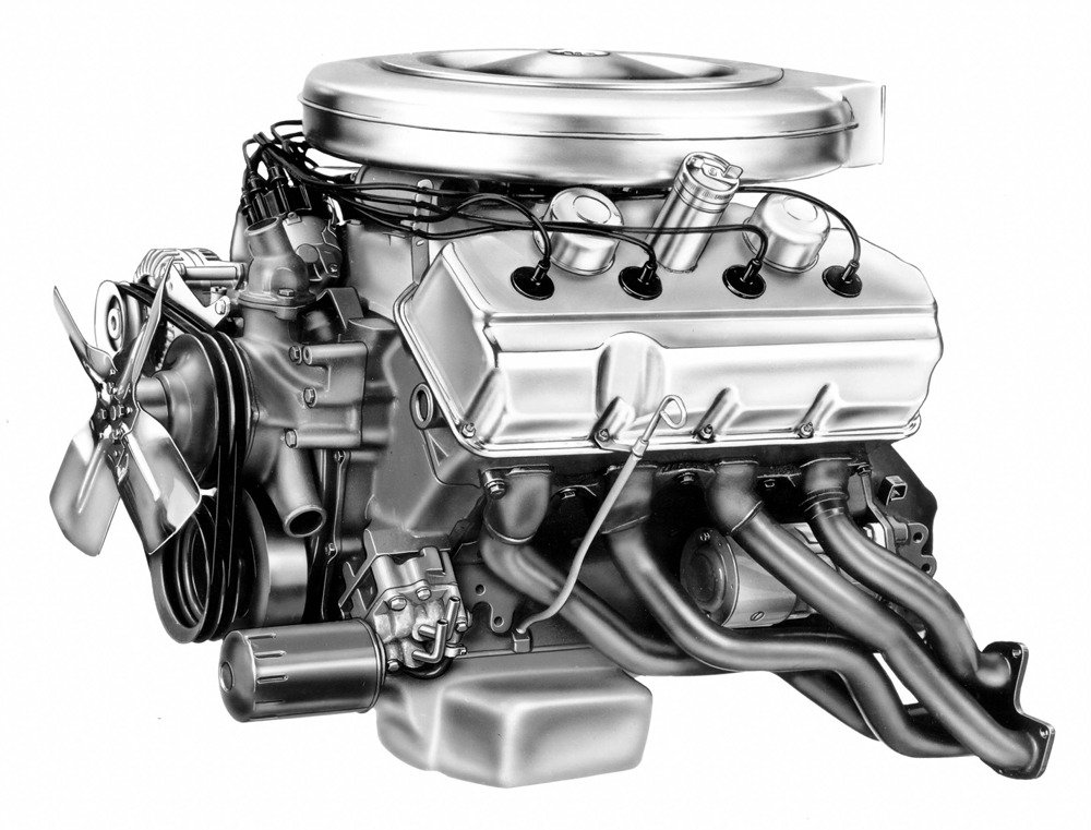 1964 Hemi circuit-racing engine