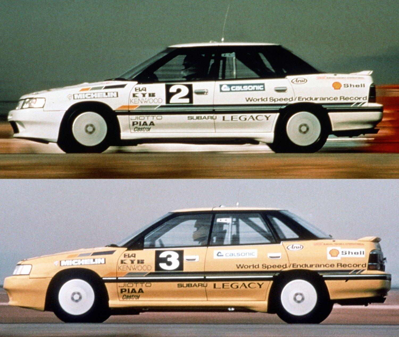 Subaru Legacy Turbos FIA record
