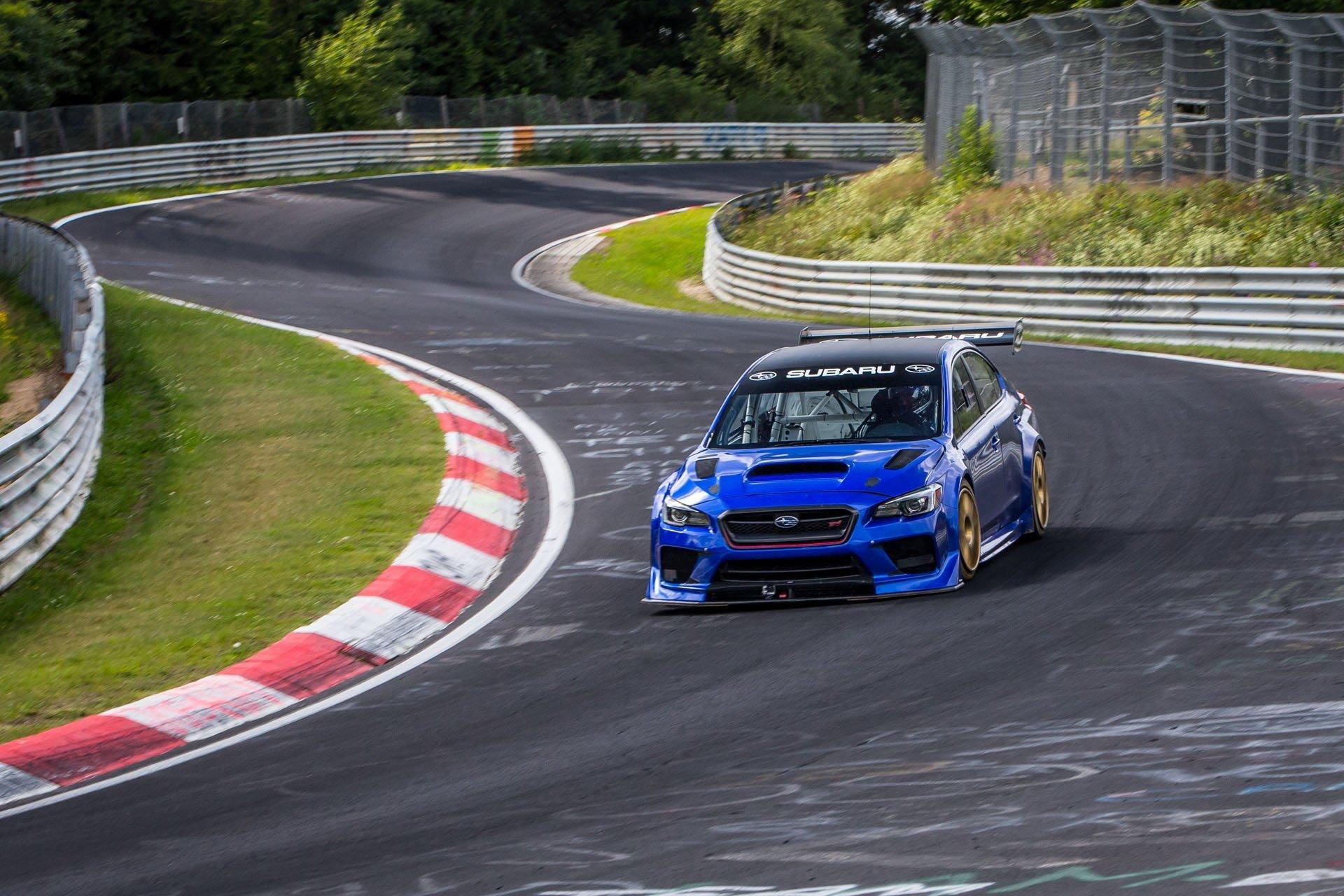 Subaru WRX STI at the Nürburgring
