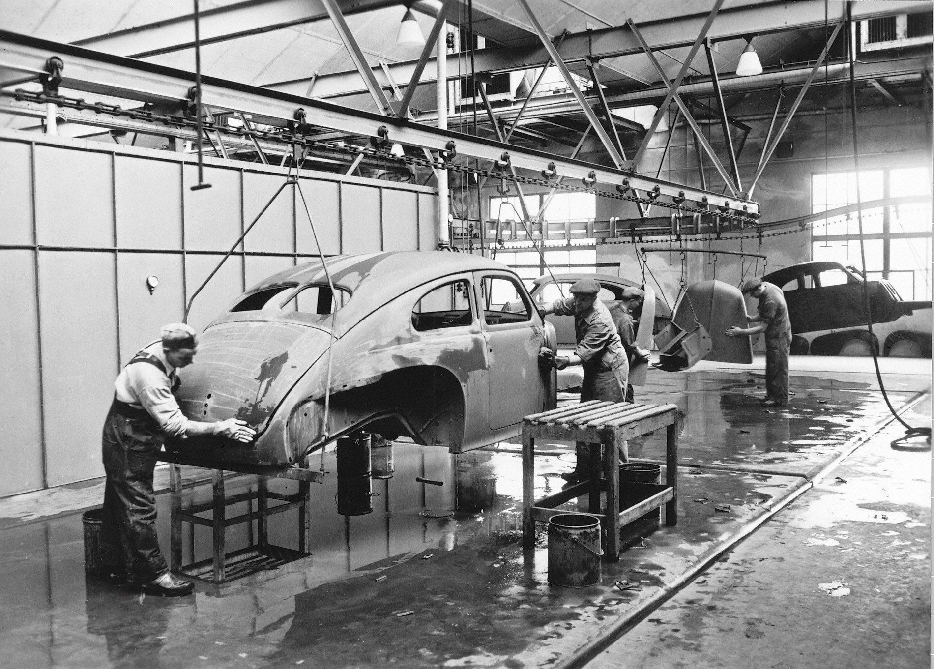 Volvo Lundby plant paint shop