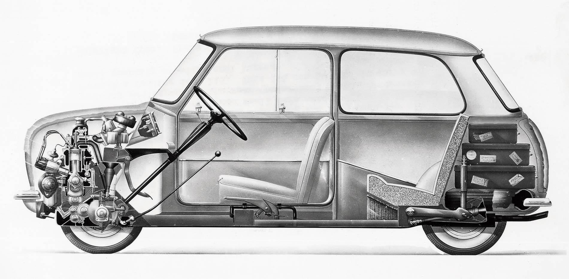 1959 Mini longitudinal section