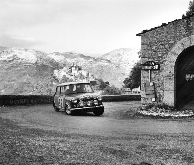 Timo Makinen and Paul Easter in a Cooper S at the Monte Carlo Rally