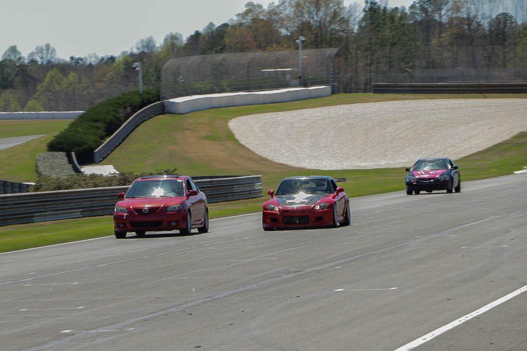 Jimmy's 2005 Mazda 3 S sedan on track